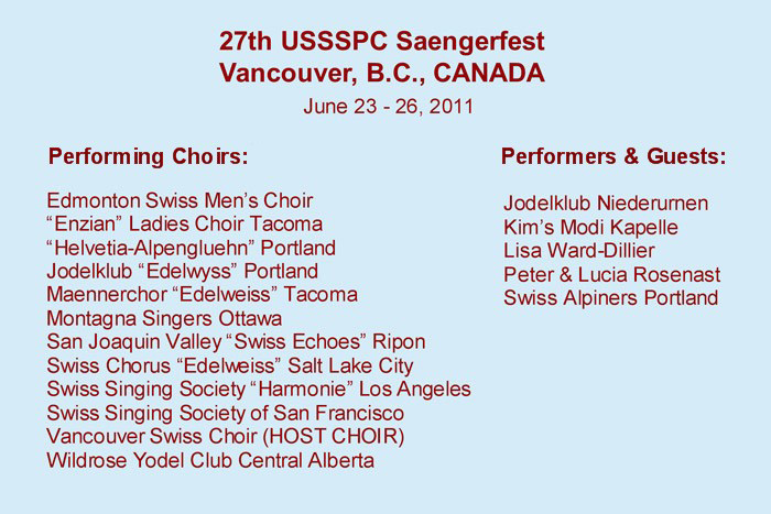 Participating Choirs