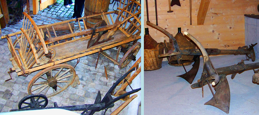 Historical Agriculture Tools in the Berneck Community Museum