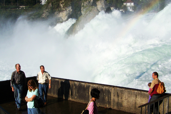 At the Rhine Fall in Schaffhausen