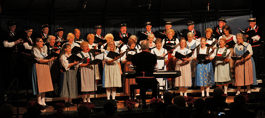 Swiss Harmonie singing their hearts out