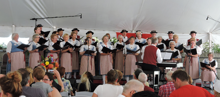 Swiss Harmonie performing under the direction of Rodger Whitten